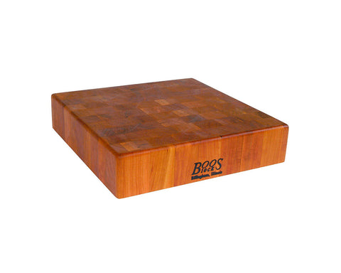 John Boos Cherry End Grain Square Chopping Block 14 x 14 x 3