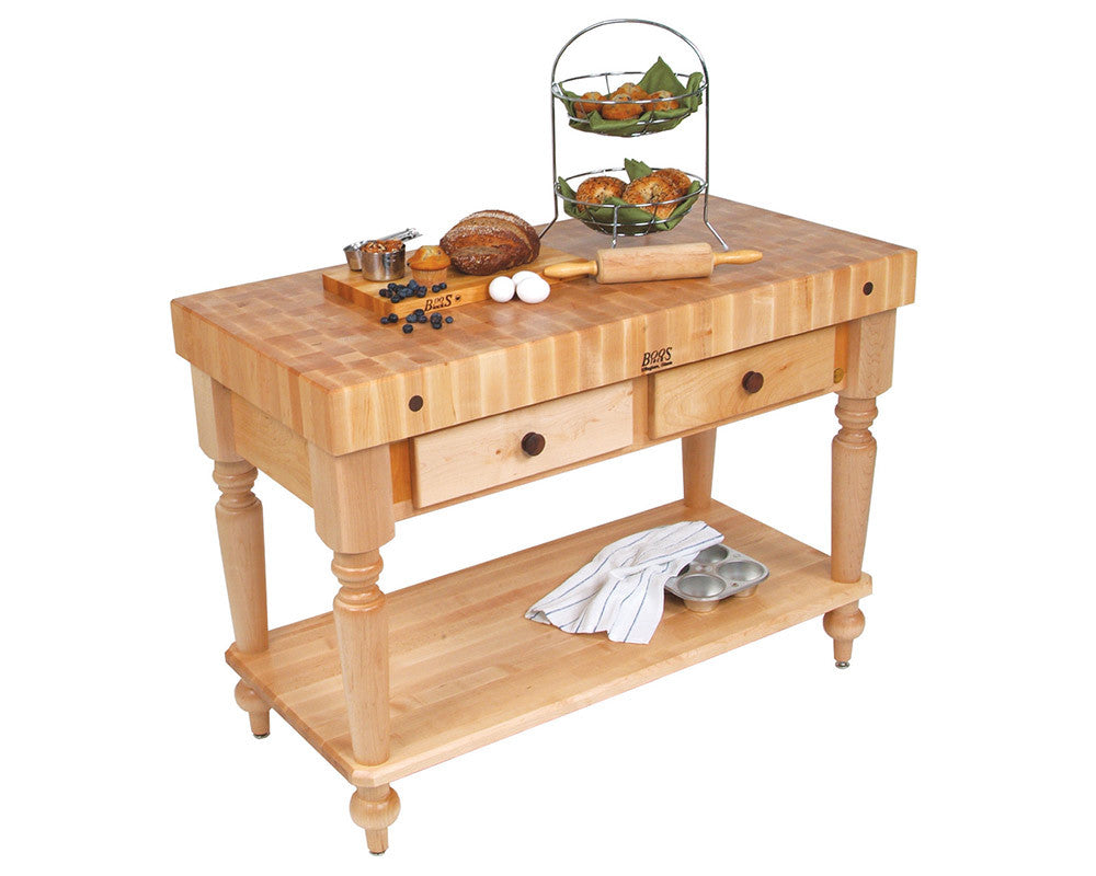 John Boos Cucina Rustica Shelf and Drawer