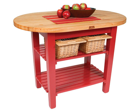 John Boos Elliptical C-Table Red