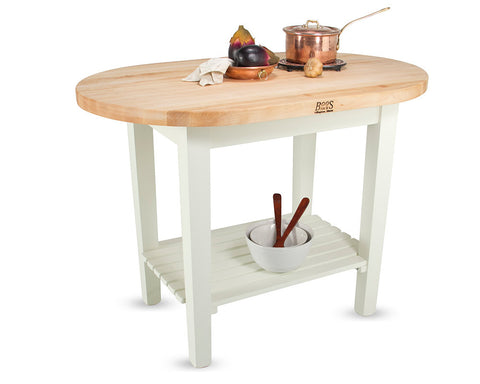 John Boos Elliptical C-Table White