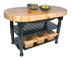 John Boos Harvest Table Black