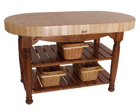 John Boos Harvest Table Cherry Stain