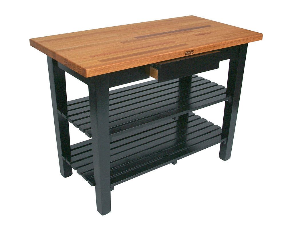 John Boos Oak Table Black