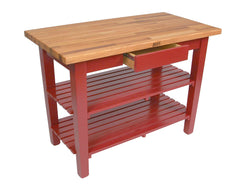 John Boos Oak Table Red