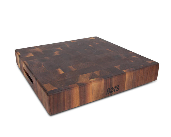 John Boos Walnut End Grain Square Chopping Block 18 In