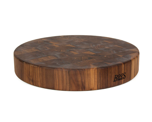 John Boos Walnut End Grain Round Chopping Block 18 X 3