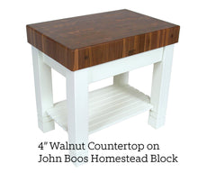 "4"" Inch Walnut End Grain Countertop on John Boos Homestead"