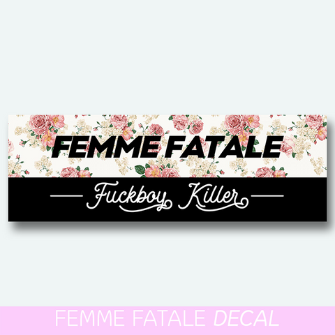 Femme Fatale floral decal