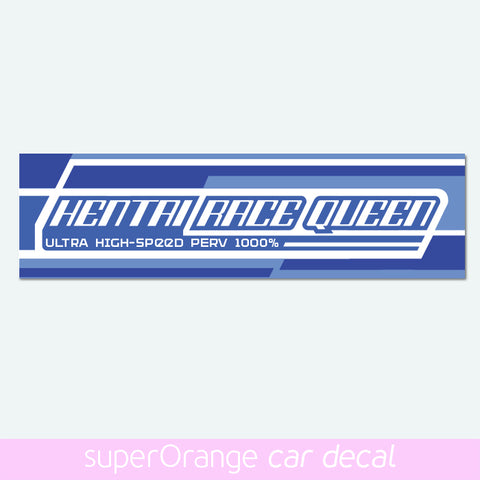 Hentai Race Queen - car slap decal