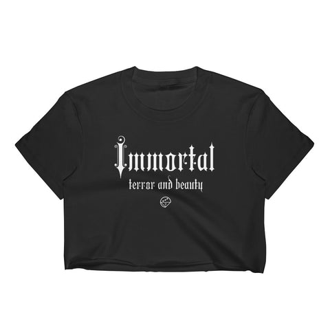 immortal terror and beauty - Women's sheer Crop Top