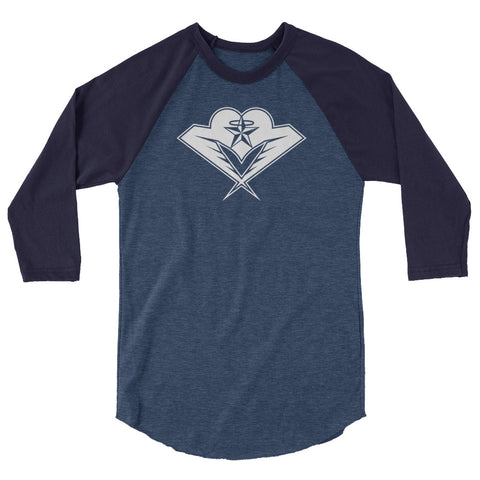 halo heart - 3/4 sleeve raglan shirt