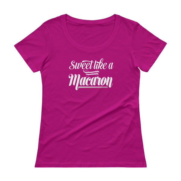 sweet like a macaron - Ladies' Scoopneck T-Shirt
