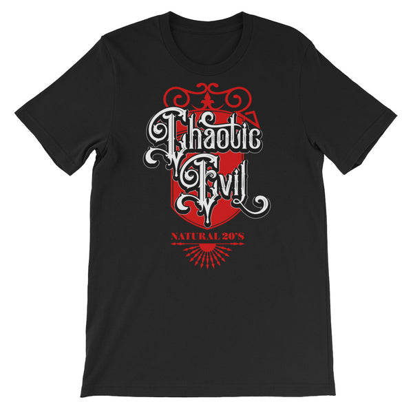 chaotic evil natural 20 - Short-Sleeve Unisex T-Shirt