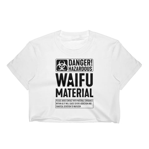 hazardous waifu material - sheer Crop Top