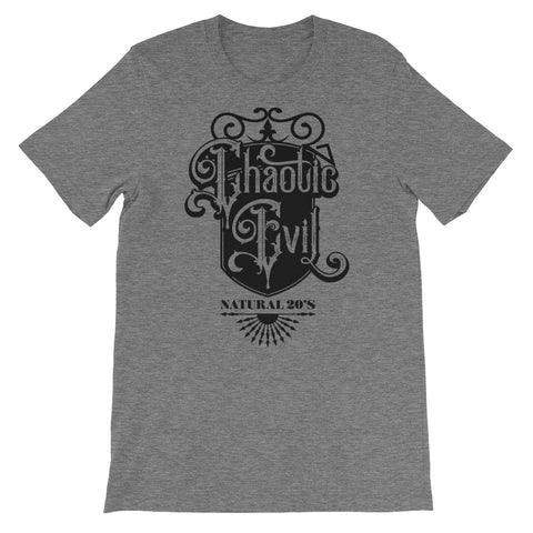 chaotic evil natural 20s - Short-Sleeve Unisex T-Shirt