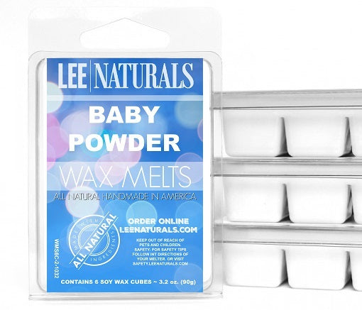BABY POWDER Premium 6-Piece Soy Wax Melts - LeeNaturals.com - 1