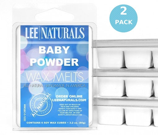 BABY POWDER Premium 6-Piece Soy Wax Melts