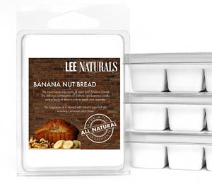 BANANA NUT BREAD Premium 6-Piece Soy Wax Melts - LeeNaturals.com - 1
