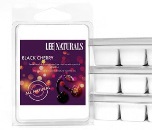 BLACK CHERRY Premium 6-Piece Soy Wax Melts - LeeNaturals.com - 1