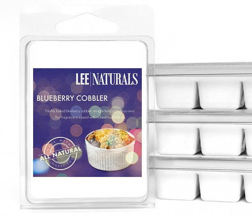 BLUEBERRY COBBLER Premium 6-Piece Soy Wax Melts - LeeNaturals.com - 1