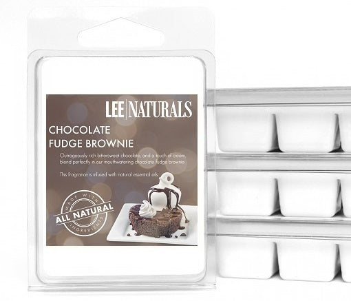 CHOCOLATE FUDGE BROWNIE Premium 6-Piece Soy Wax Melts - LeeNaturals.com - 1