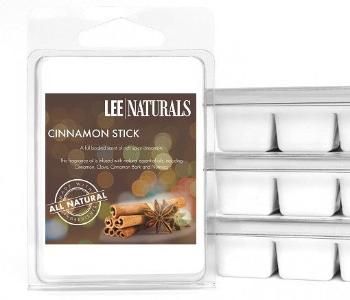 CINNAMON STICK Premium 6-Piece Soy Wax Melts - LeeNaturals.com - 1