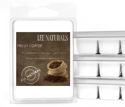COFFEE / FRESH COFFEE Premium 6-Piece Soy Wax Melts - LeeNaturals.com - 1