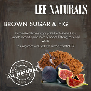 BROWN SUGAR & FIG Premium 6-Piece Soy Wax Melts - LeeNaturals.com - 2