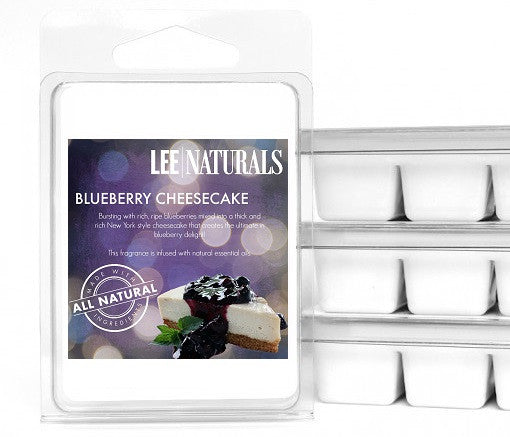 BLUEBERRY CHEESECAKE Premium 6-Piece Soy Wax Melts - LeeNaturals.com - 1