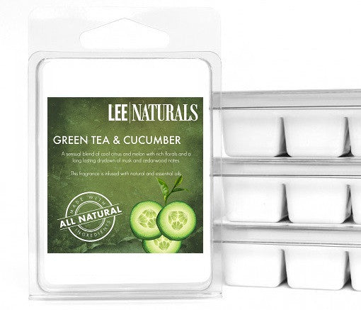 GREEN TEA & CUCUMBER Premium 6-Piece Soy Wax Melts