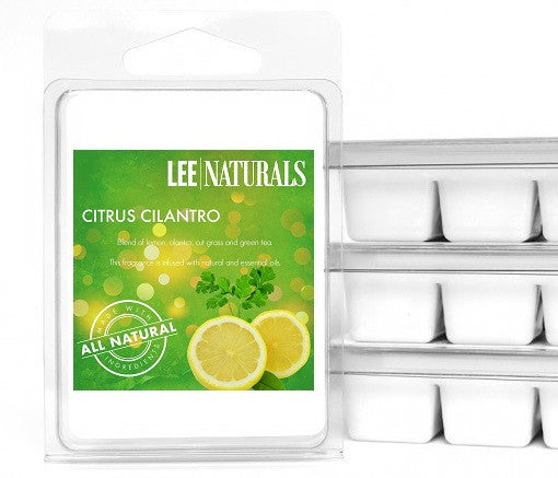 CITRUS CILANTRO Premium 6-Piece Soy Wax Melts - LeeNaturals.com - 1