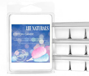 COTTON CANDY Premium 6-Piece Soy Wax Melts - LeeNaturals.com - 1