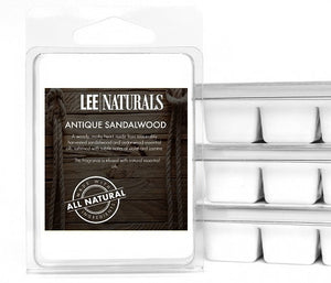 ANTIQUE SANDALWOOD Premium 6-Piece Soy Wax Melts - LeeNaturals.com - 1