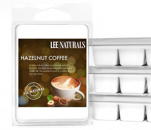 HAZELNUT COFFEE Premium 6-Piece Soy Wax Melts - LeeNaturals.com - 1