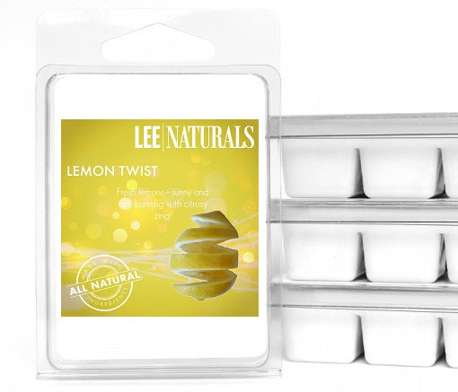 LEMON TWIST Premium 6-Piece Soy Wax Melts - LeeNaturals.com - 1
