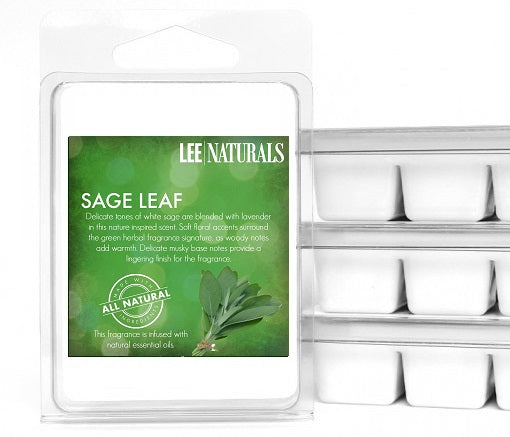 SAGE LEAF Premium 6-Piece Soy Wax Melts - LeeNaturals.com - 1