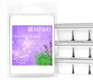 LEMONGRASS SAGE Premium 6-Piece Soy Wax Melts