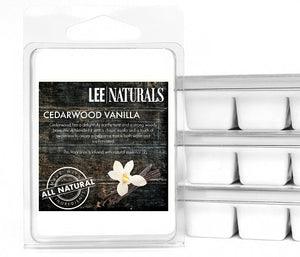CEDARWOOD VANILLA Premium 6-Piece Soy Wax Melts - LeeNaturals.com - 1