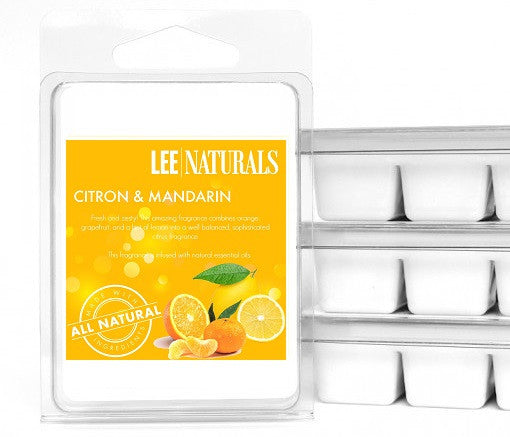 CITRON & MANDARIN Premium 6-Piece Soy Wax Melts - LeeNaturals.com - 1