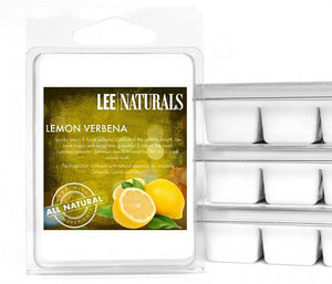 LEMON VERBENA Premium 6-Piece Soy Wax Melt Clamshell - LeeNaturals.com - 1