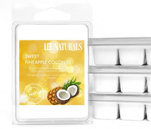 SWEET PINEAPPLE COCONUT Premium 6-Piece Soy Wax Melt Clamshell - LeeNaturals.com - 1