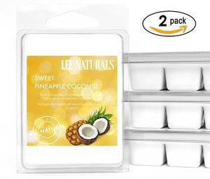 SWEET PINEAPPLE COCONUT Premium 6-Piece Soy Wax Melt Clamshell - LeeNaturals.com - 2