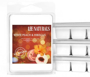 WHITE PEACH & HIBISCUS Premium 6-Piece Soy Wax Melt Clamshell