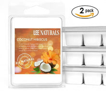 COCONUT HIBISCUS (LN EXCLUSIVE) Premium 6-Piece Soy Wax Melt Clamshell - LeeNaturals.com - 2