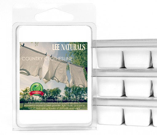 COUNTRY CLOTHESLINE Premium 6-Piece Soy Wax Melt Clamshell - LeeNaturals.com - 1