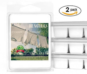 COUNTRY CLOTHESLINE Premium 6-Piece Soy Wax Melt Clamshell