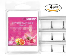 GRAPEFRUIT & MANGO SPLASH Premium 6-Piece Soy Wax Melt Clamshell - LeeNaturals.com - 3