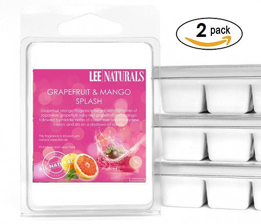 GRAPEFRUIT & MANGO SPLASH Premium 6-Piece Soy Wax Melt Clamshell - LeeNaturals.com - 2