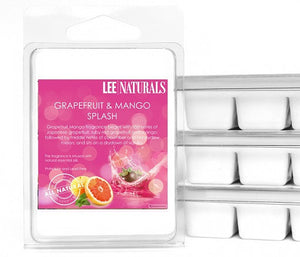 GRAPEFRUIT & MANGO SPLASH Premium 6-Piece Soy Wax Melt Clamshell - LeeNaturals.com - 1