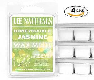 HONEYSUCKLE JASMINE Premium 6-Piece Soy Wax Melt Clamshell - Lee Naturals Wax Melts